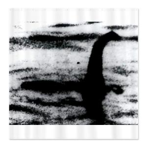Loch Ness Monster Shower Curtain